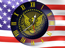 Flag Clock  screensavers  nfsUSAFlagClock