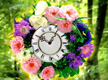 Flowers  screensavers  nfsWreathClock