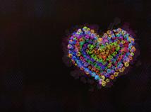 Blasen Herz