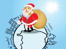 Santa Round Earth